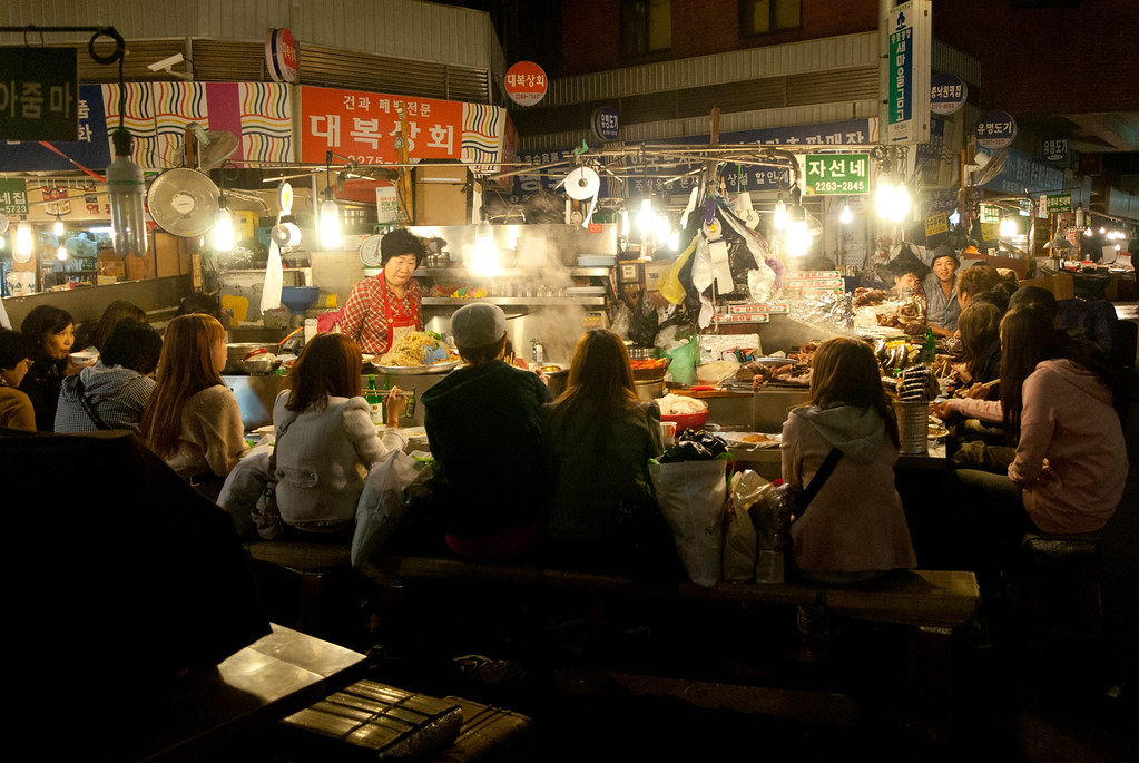 Food stalls in Gwangjang market