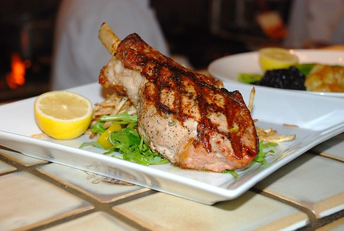 Lombata Di Vitello Al Rosmarino - Grilled rib veal chop with rosemary oil essence