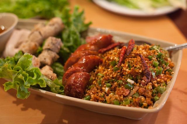 Appetizer Sampler Champa Garden Rice Ball Salad Lao