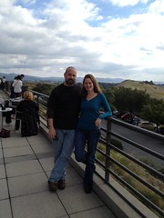 On the balcony at Artesa Vineyard