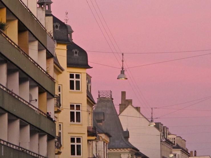 Sunset sky on Vesterbro