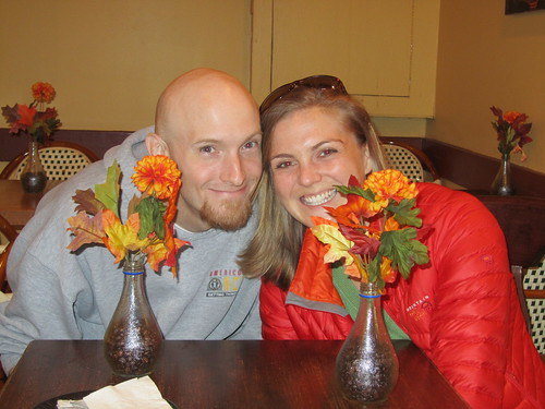 Chris and Paula with beautiful fall decoration