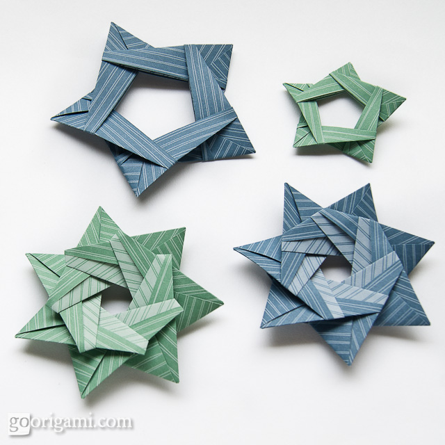 How to Make a 3D five-point star from paper with origami « Papercraft