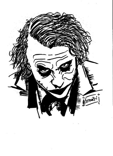 Joker (Heath Ledger) by Giuseppe Lombardi