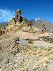 Tenerife - Roques de Garcia with Mount Teide in the Winter