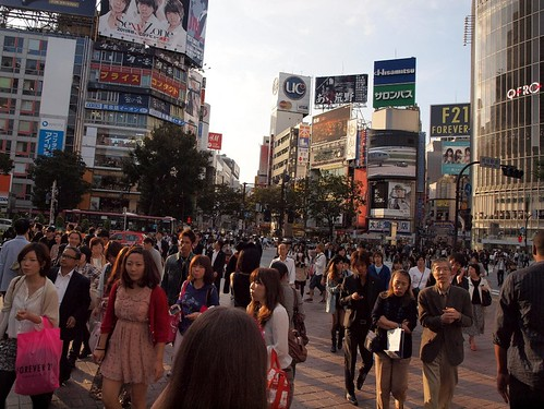 Shibuya in the Setting Sun