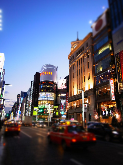 magic hour at Ginza