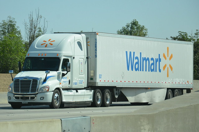 walmart freightliner big rig truck 18 wheeler flickr photo sharing. Black Bedroom Furniture Sets. Home Design Ideas