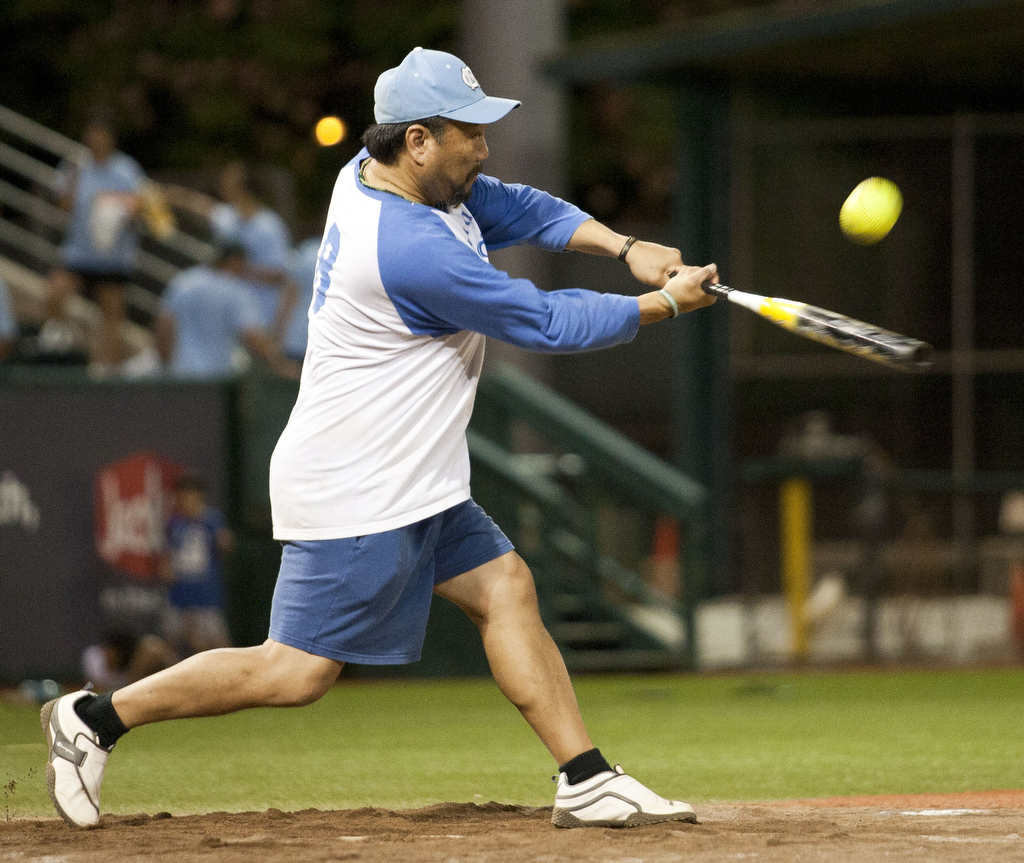 <p>A Kapi'olani Royals player at bat at the UH AUW Softball Tourment at Les Murakami Stadium on Sept. 30, 2011</p>