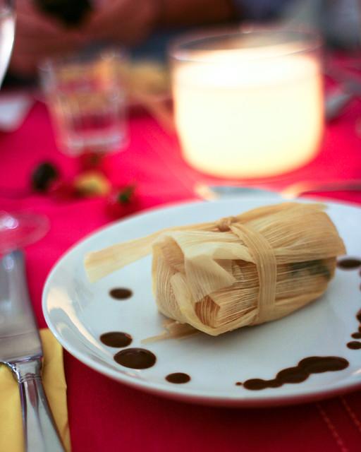 Tamales Rellenos de Calabacin