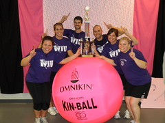 Student Development and Orientation Big Pink Volleyball Team, Winners of the 2011 Employee Bracket