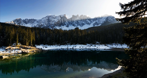 Dolomiti - Lago di Carezza, io l' ho visto cosi.