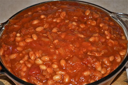 baked beans/finished dish