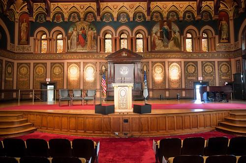 Map of Gaston Hall - Georgetown University