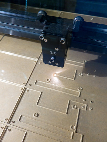 Laser cutting Geiger Counter cases