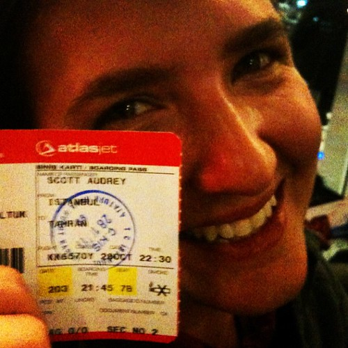 One of more exciting boarding passes in our journey. Tehran, here we come! #dna2iran