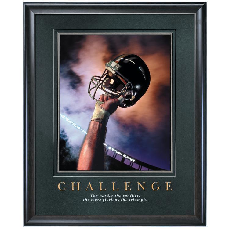 Challenge Football Motivational Print