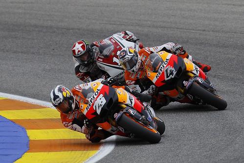 Pedrosa, Dovicioso, Spies GP Valencia 2011