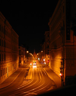 Autumnal night in Brno