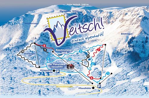 Veitsch - mapa sjezdovek