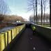 A sunken bike path by Steven Vance
