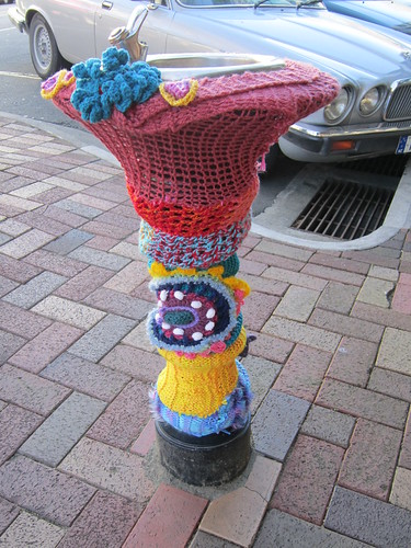 yarn bombing street furniture