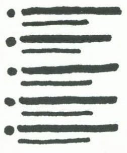 bulleted list