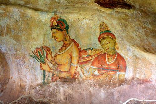 Sigiriya, frescos by photographer Hans Wessberg