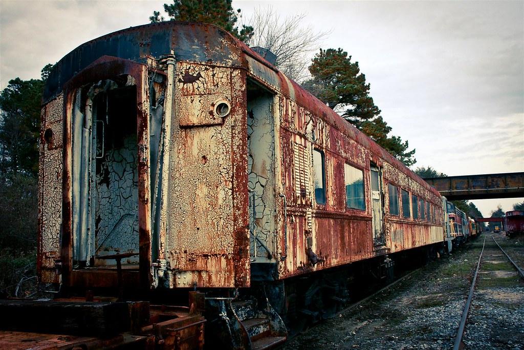 Decaying train car