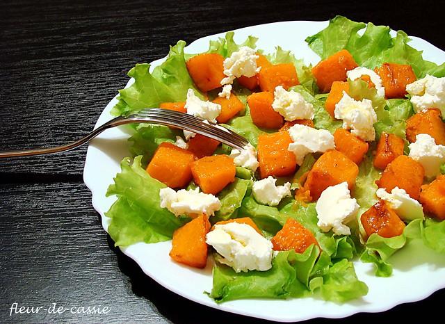салат с тыквой и козьим сыром 1