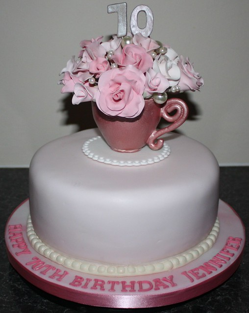 Birthday Cake Designs For A Lady : 70th Birthday Cake Flickr - Photo Sharing!