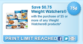 Weight Watchers Products Coupon