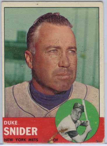 1963 Topps Duke Snider