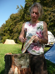 carving with an axe