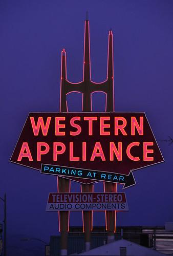 Western Appliance Neon Sign