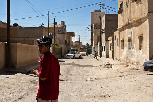 A young boy in the Palestinian refugee camp of Talbieh in Jordan