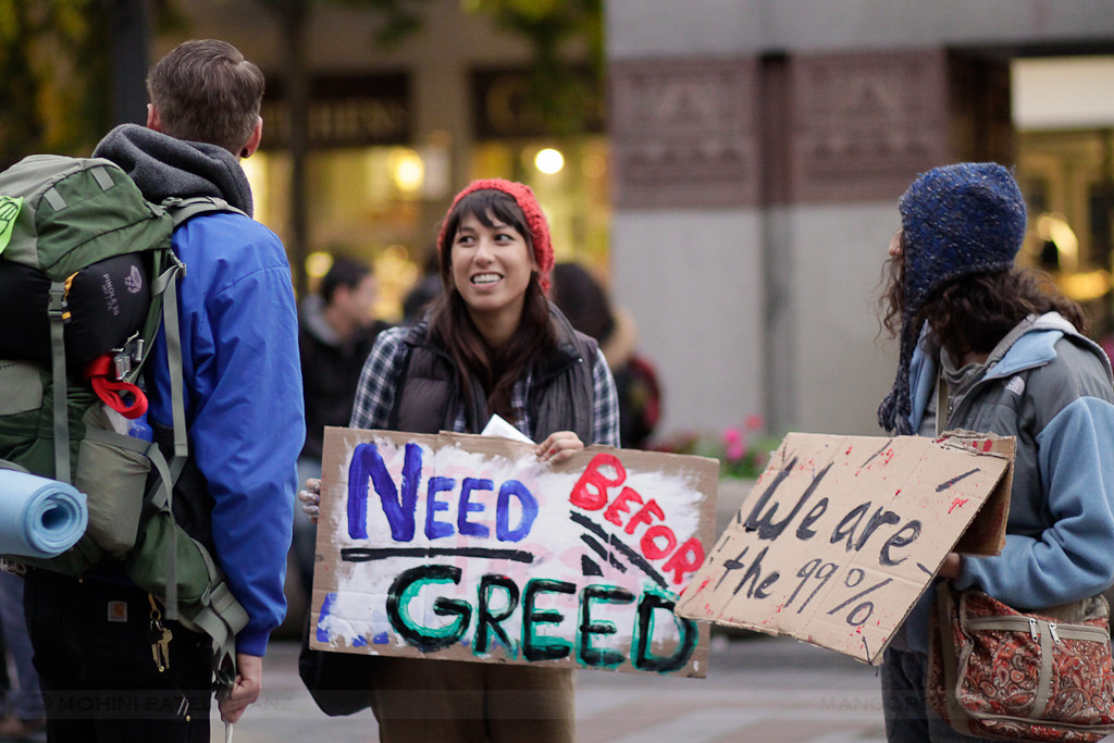 occupy seattle - need before greed