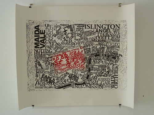 Mark Andrew Webber - London map linocut