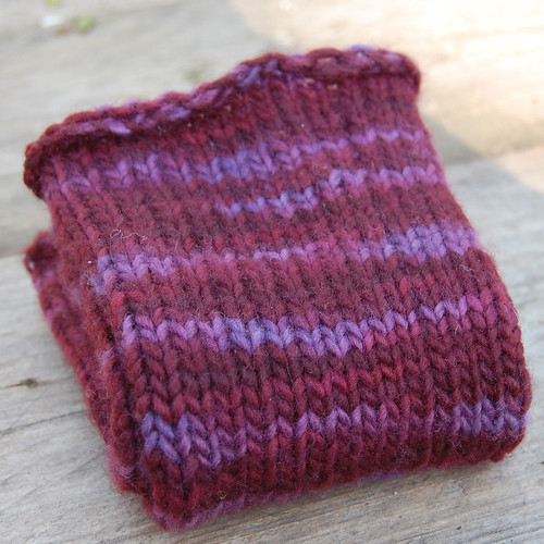 Malabrigo knit wristwarmers