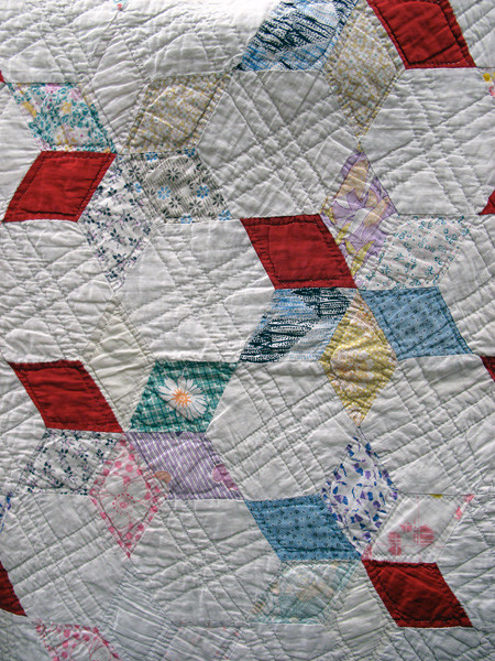 Vintage 6-Pointed Star Quilt Flickr - Photo Sharing!