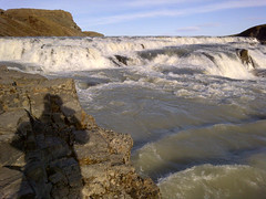 Hard to hike there but what a fantastic view 2meters away from millions of liters of water. #Gulfoss #Iceland