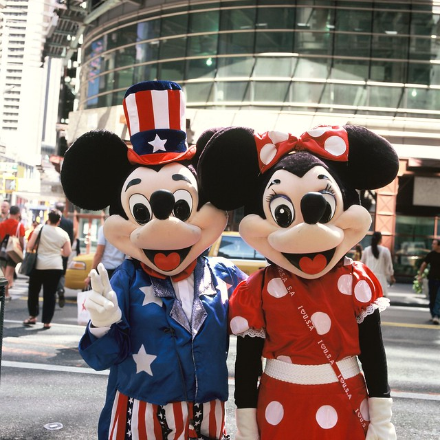 Times Square's Micky and Minnie