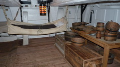 hms victory midshipman mess tables and hammocks