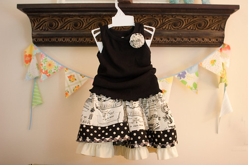Black and White Edith Twirl Skirt