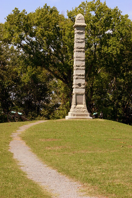2nd Minnesota Monument, Delong Reservation, Missionary Ridge
