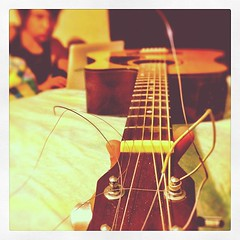 My #guitar. #iPhonephotography #iPhoneography #iPhone4 #instagood #instamood #instrument #music