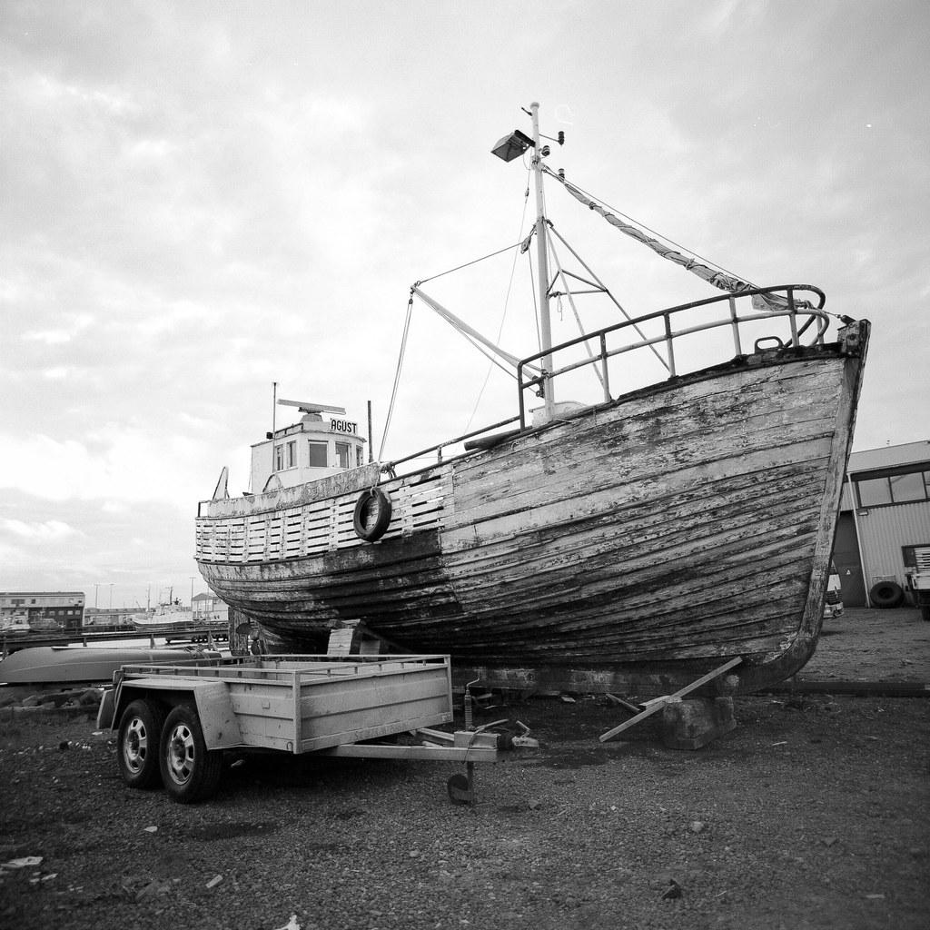 """Image titled """"Old Boat, Reykjavik, Iceland."""""""
