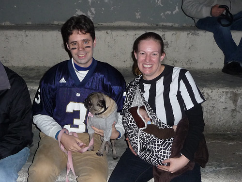 Halloween -- The Quarterback, The Referee, the Coach, and the Football