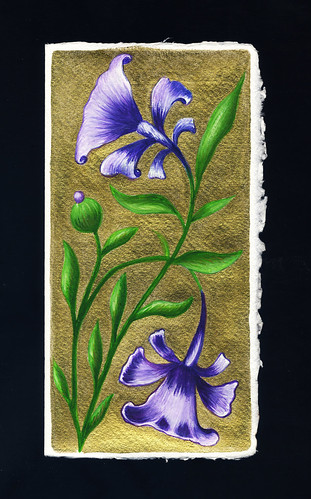 Purple Flowers- Medieval Beetle series #7