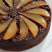 upside-down pear chocolate cake